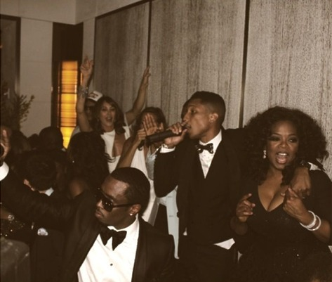 Pharrell Williams, Diddy, Oprah Partying
