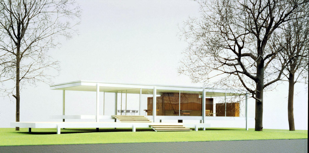 Model of Mies van der Rohe's Farnsworth House, Plano, Illinois