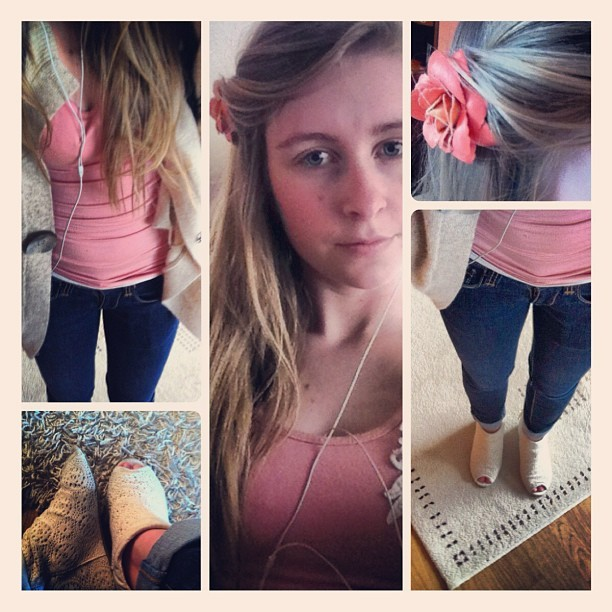 #me #today #fashion #clothes #outfit #rose #girl #blond #shoes #hair #yeahoknice #oksmilyface #monday (Taken with instagram)