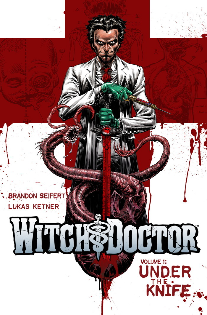 aerspyder:  Witch Doctor:  Under the Knife Just read this trade.  Brilliant.  Doctor Who meets House while battling the cthulhu mythos.   And he has Excalibur.  Very cool.