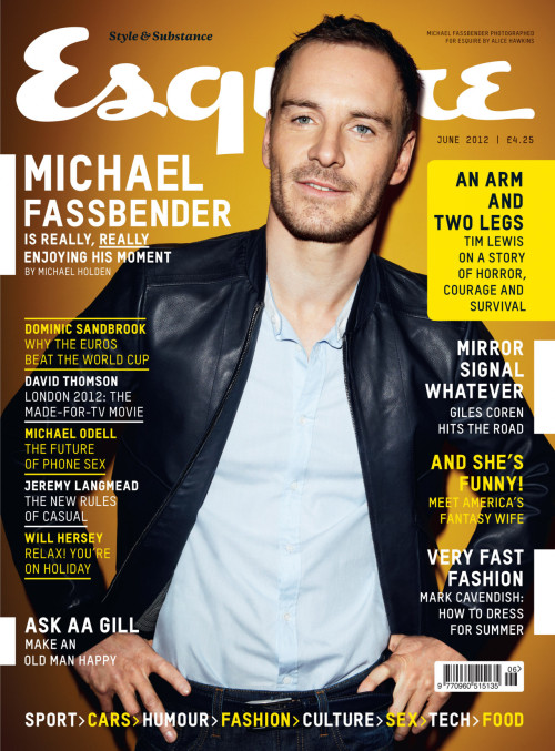 BRINGING THE HOT TO THE COVER OF ESQUIRE UK - MICHAEL FASSBENDER The things I would do for this man. Damn.