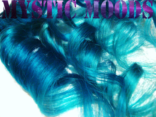 to order contact; mysticmoods@live.comAqua to Teal dip dye