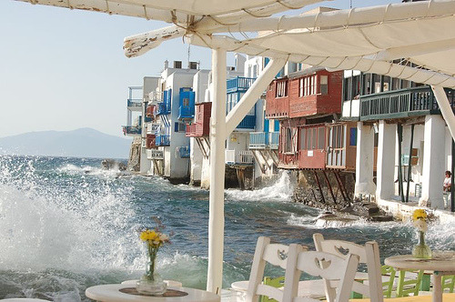 Seaside, Mykonos, Greece photo via katie