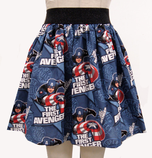 gochaserabbits:  NEW Captain America skirt from GoChaseRabbits
