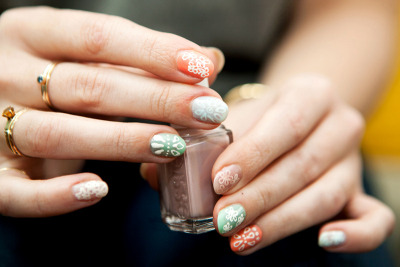 Louis Vuitton Spring 2012-Inspired Nails (via moveSlightly: Louis Vuitton Spring 2012-Inspired Nails)