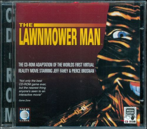 "The Lawnmower Man (PC) One more to finish off the week, the PC version slides the nightmarish face to the right to make room for a ""Best CD-ROM game ever!"" quote."