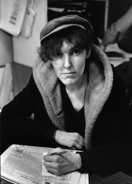 Valerie Solanas, the genius author of the SCUM Manifesto, a brilliant raging text about all that's wrong in the society.