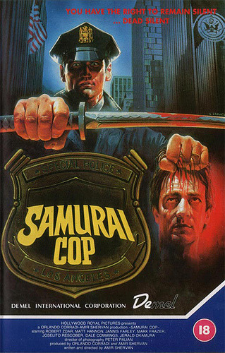 Samurai Cop (1989) dir. Amir Shervan 1/4 General Scale4/4 B-Movie Scale PURE. FUCKING. AWESOME. Can you tell I loved Samurai Cop? Oh man, where do I begin? This movie surpassed all expectations I had and promptly found a place beside shitty favorites such as Laserblast and Mac and Me. It's always a joy to find a pure gem of cinematic trash like this, and Samurai Cop is like… Click the poster for the full review!