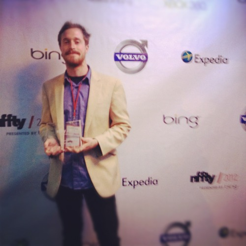 Thesis short film, The Bard, just won an audience award at NFFTY in Seattle. Cinematographer/Co-Writer Matt Clegg at the screening.