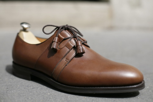 John Lobb Saddle Dark Brown Dune Calf - October rubber sole By Request