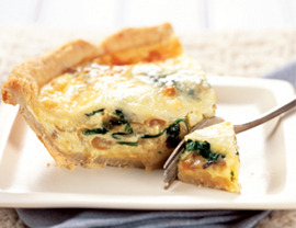 Mushroom and Spinach Quiche http://www.vegetariantimes.com/recipe/mushroom-and-spinach-quiche/