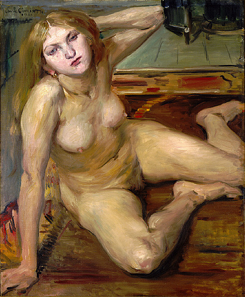 zitterberg:  Lovis Corinth, Nude Girl on a Rug, 1912