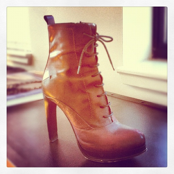 Missing: the other half to these #costumenational dream boots. #RewardForTheFinder  (Taken with instagram)