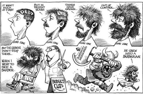 theeconomist:  KAL's cartoon: this week, a haircut.