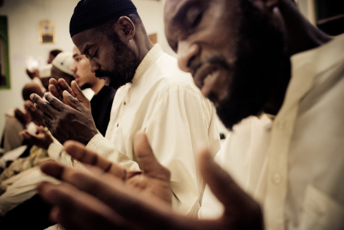 30mosques:  supplication after the special night prayer, taraweeh, during Ramadan in Islamville. South Carolina, 2011