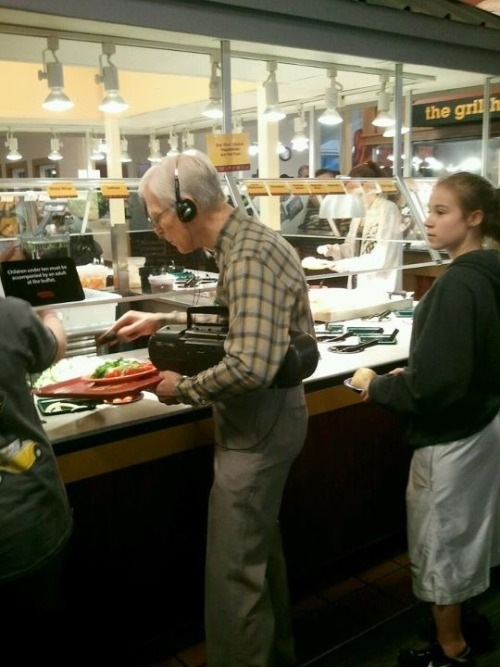 Hipster Grandpa: iPod's are just too mainstream. via