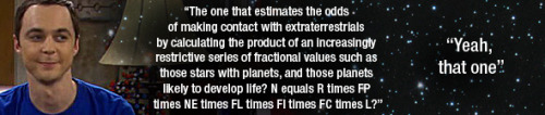 Are you familiar with the Drake Equation?