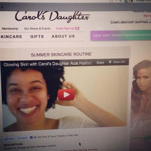 I'm on the @carolsdaughter website 👏🎉🎉🎈 (Taken with instagram)