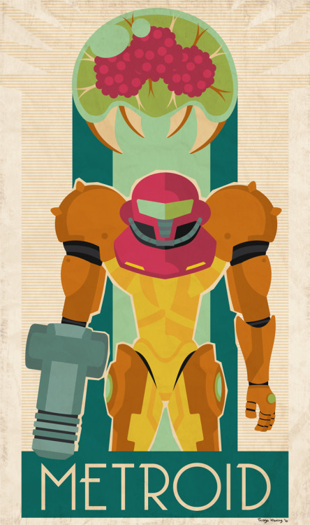 Metroid Created by Thiago Krening (Via: it8bit)