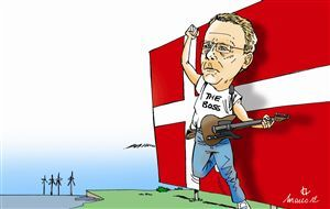 Meet Morten Bødskov, Denmark's refined law-man. Cartoon by Marco Villard.