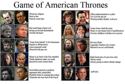 flavorpill:  Politicians as 'Game of Thrones' Characters