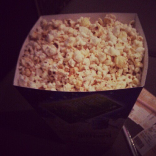 Popcorn and avengers!! (Taken with instagram)