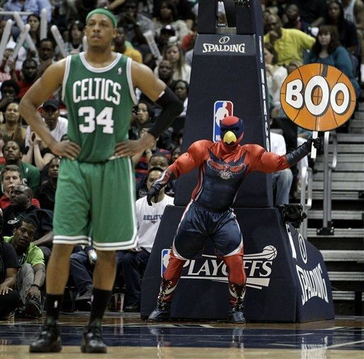 Look at this mascot.  AP Photo/David Goldman