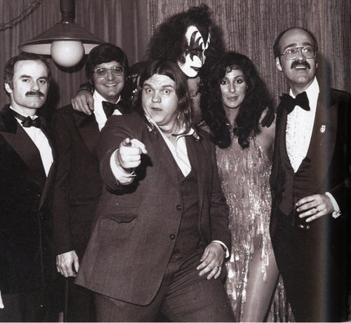 superseventies:  Cher with Gene Simmons and Meat Loaf, 1979.