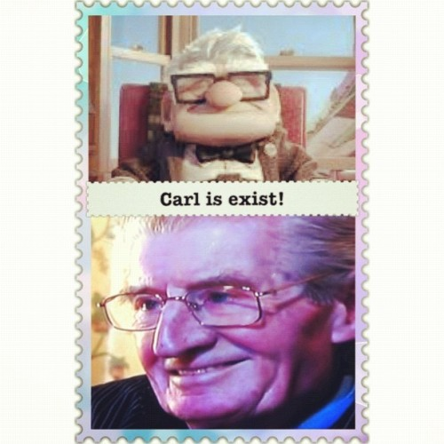 He is exist! #squaready #up #movie #carl #similar #twins #he #is #exist #real #joke #justforfun #iphonesia #instagood  (Taken with instagram)