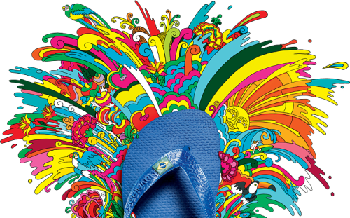 "Havaianas celebrates 50 years of exposed toes. ""Havaianas are more popular than Coca-Cola in Brazil. They're everywhere. We've done studies, and the brand awareness is 100 percent, so literally everyone in Brazil knows about the brand."""