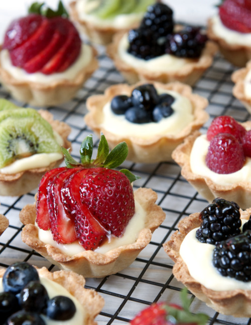 fruit and cream mini tarts click here for recipe