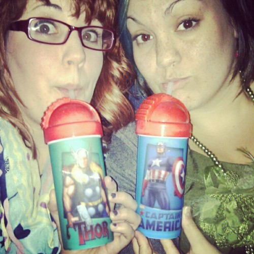 Watching Avengers like pro's!! (Taken with instagram)