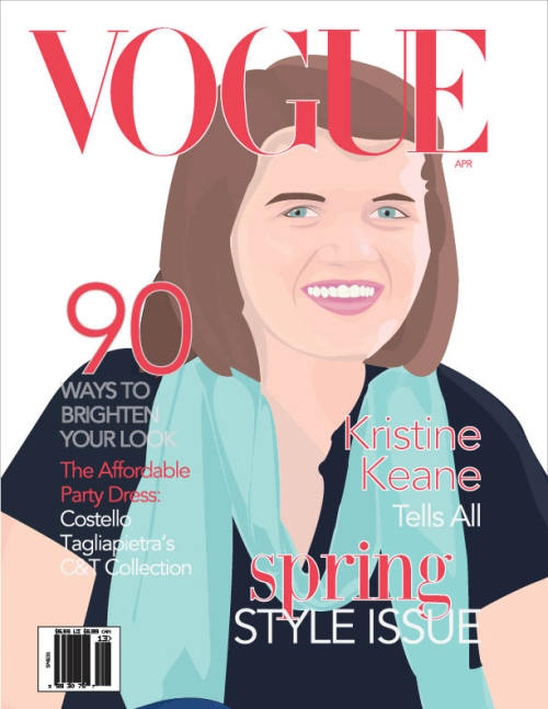 A proposed Vogue cover with an illustration of myself.