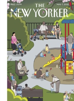 Great cover of the New Yorker that features a neat playground (as well as the things that make a playground great for adults: nearby coffeeshops, benches, shade and COMMUNITY!) Wonder which playground Chris Ware was inspired by? Anyone want to track it down?