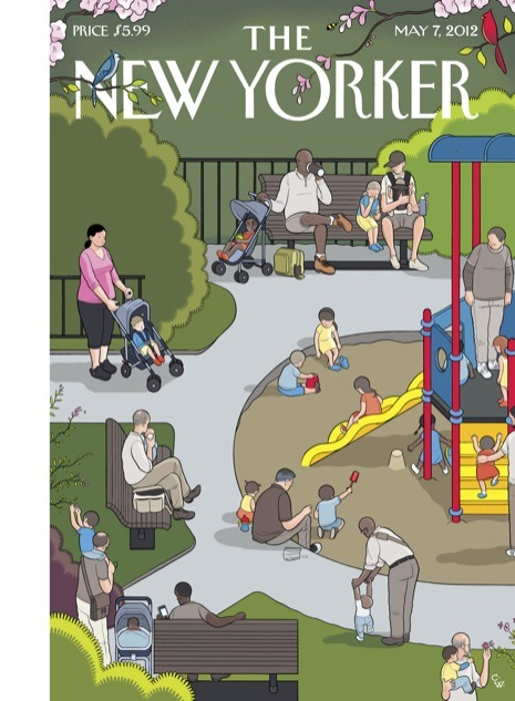 "newyorker:  We asked Chris Ware, who drew this week's cover, ""Mother's Day,"" to discuss the New Yorker covers that inspired him.  Since I draw more or less like a robot, it's good to have something human to inspire me every once in a while. While I dutifully admire the manly, punchy gags of Peter Arno and Charles Addams, the ""old school"" New Yorker cover artists I think most about are actually all women. Ilonka Karasz's bucolic diorama-like vistas and the unapologetic warm sentiment of Edna Eicke stir up fond memories of childhood with a tactile power truly unusual for drawings intended only for print.  See the past covers that have inspired Ware and his commentary here."