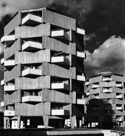 fuckyeahbrutalism:  Block of Flats, Lahr, Germany, 1959-62 (Heinrich Doll, Hans Walter Henrich & Klaus Humpert for State Building Department II)