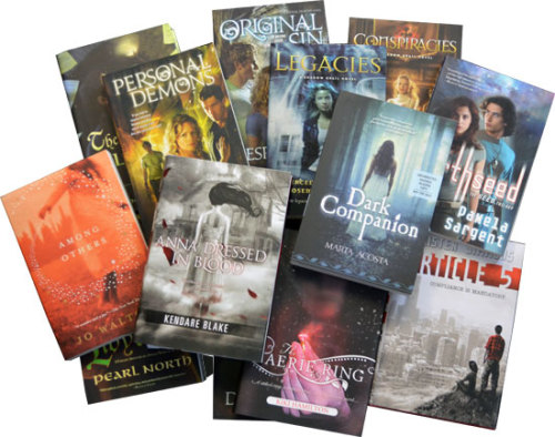 Here's a chance to win 13 YA books! Sign up for your chance to win today! NO PURCHASE NECESSARY. You must be 18 or older and a legal resident of the 50 United States or D.C. to enter. Promotion begins April 30, 2012 at 12 a.m. ET. and ends June 8, 2012, 11:59 p.m. ET. Void in Puerto Rico and wherever prohibited by law. For Official Rules and to enter, go here. Sponsor: Tom Doherty Associates, LLC.