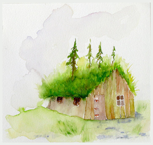 lindasinklings:  little house. via (thebeldam)