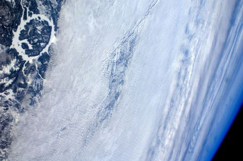 unknownskywalker:  Manicouagan crater from the ISS The Manicouagan Impact Crater, Quebec, Canada photographed from the International Space Station 12:36 GMT March 15, 2012, 215 million years after an asteroid three miles in diameter smashed into the Earth.