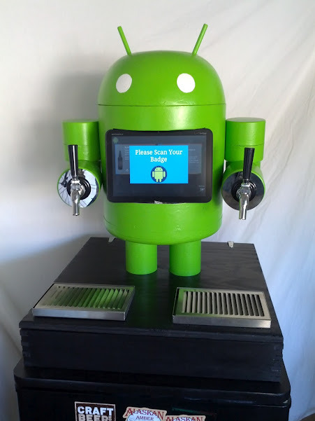 "[via laughingsquid]:  Betsy the KegDroid, An Android-Based Beer Dispenser  Does Betsy come with seven different action phrases, too? ""YOU'VE HAD ENOUGH."" ""YOU HAVE A PROBLEM."""