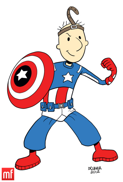 "Captain Quail-Merica ""Remember kids, the Quail-call is not a toy."" Nicktoon Avengers Assemble!"