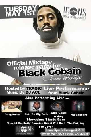 Plan Ahead! Dont wanna miss this live performance by @blackcobain!!! #cheers #cheers #cheers