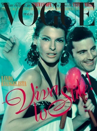 glam-val:  Linda Evangelista on the cover of Vogue Italia, May 2012
