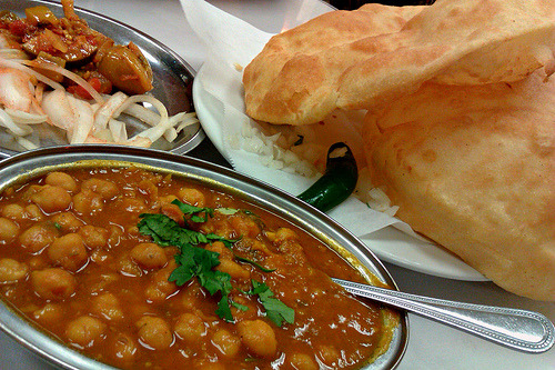 indian-food:  Chole Bhature