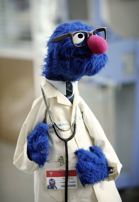 Dr. Coco. laughingsquid: Paging Dr. Grover… Paging Dr. Grover…