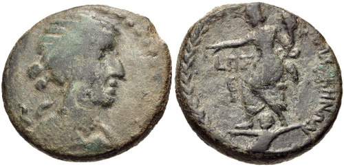robcalfee:  Cleopatra VII, Tyche of Antioch type on reverse, Damascus, Syria (via Beelog)