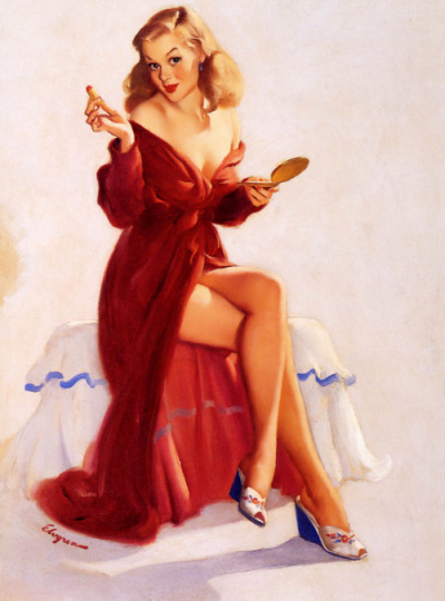This Doesn't Seem to Keep the Chap from my Lips -Gil Elvgren 1948