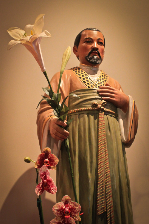 Novena to St. Joseph:  DAY 9  [Photo:  Chinese style St. Joseph, taken on a recent mini-pilgrimage to the Old Cathedral of St. Mary of the Immaculate Conception in San Francisco (California's first cathedral)]