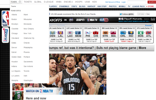 "Look at the NBA page in the ""teams"" tab! BROOKLYN Nets! #HELLOBROOKLYN"