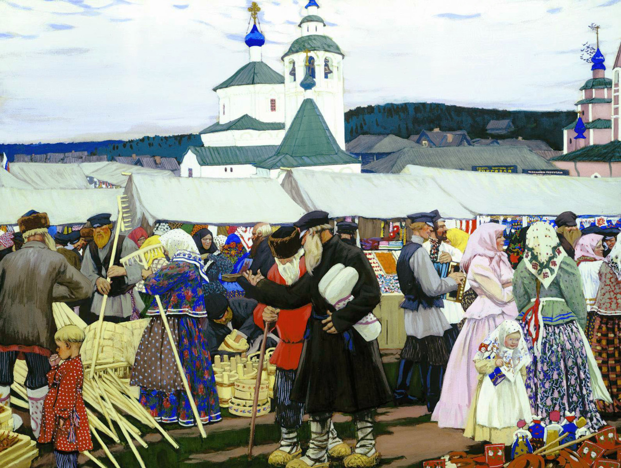 artandopinion:   At The Fair 1906 Boris Kustodiev